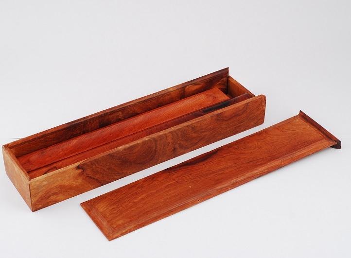 Hộp gỗ đựng nhang ống loại to