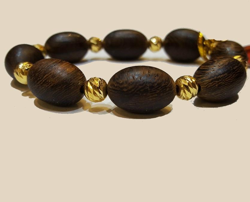 Vòng tay bọc vàng hạt dài C9