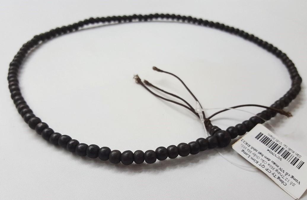 Vòng cổ VN màu đen hạt nhỏ ĐK12