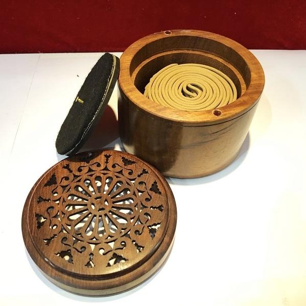 Nhang vòng + bộ đốt gỗ  40 khoanh
